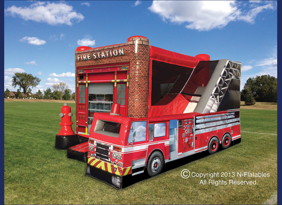 Fire Station Inflatable Rental