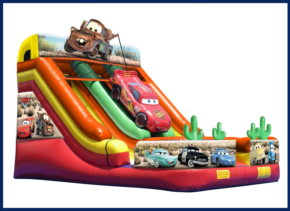 Cars Inflatable Slide Rental