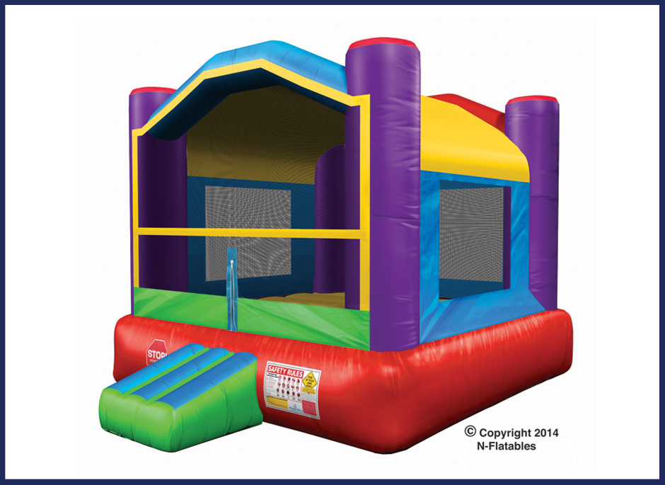 Wacky Bounce House Inflatable Moonwalk
