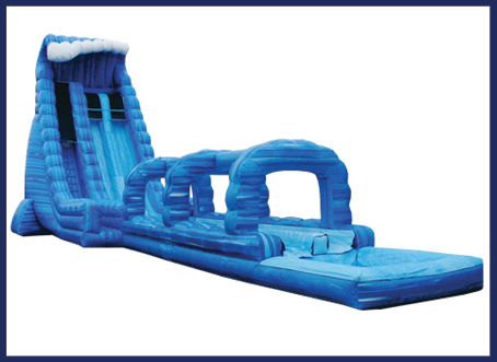 Blue Crush Double Lane Water Slide