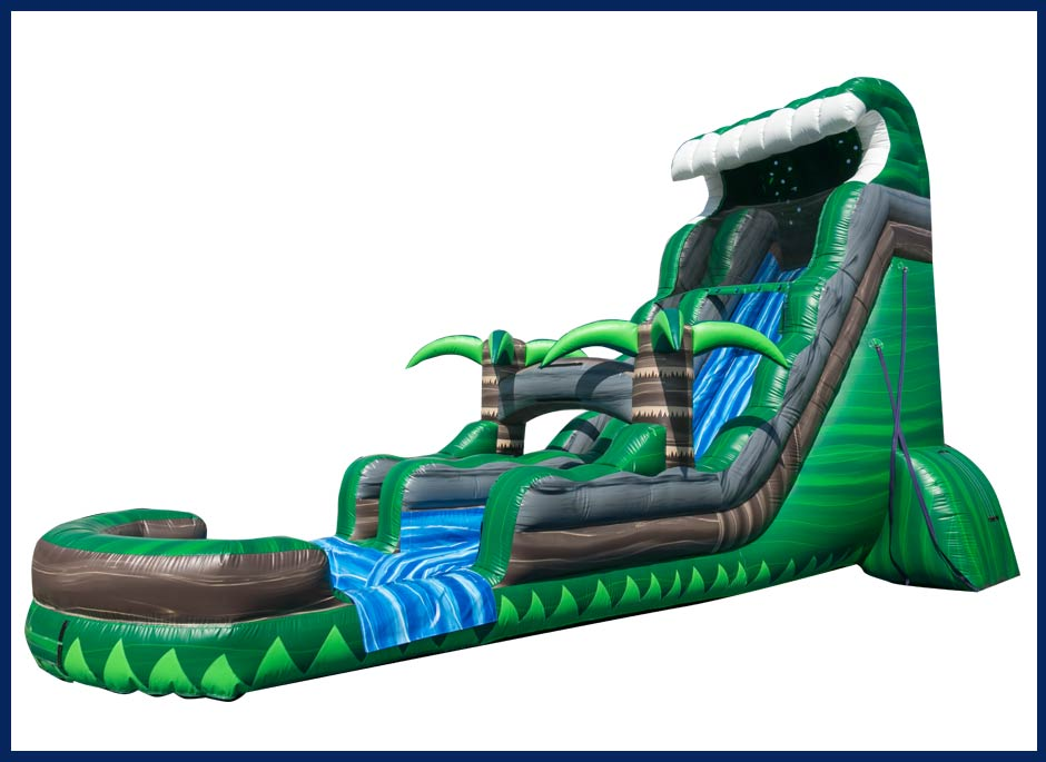 Emerald Crush Tsunami Water Slide