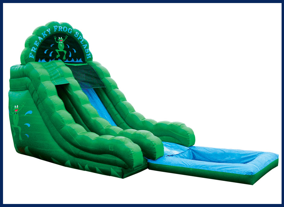 Freaky Frog Splash Water Slide with Pool